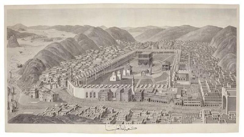 কাবা শরীফের দু'শো বছরের পুরনো ছবি নিলামে